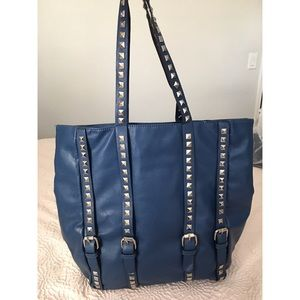 Handbags - Navy Blue Studded Tote